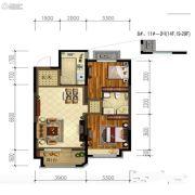 金地锦城2室2厅1卫90平方米户型图