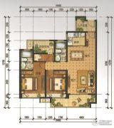 锦发君城3室2厅2卫103平方米户型图