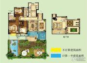 世茂招商语山3室2厅2卫118平方米户型图