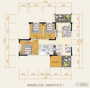 水岸欧韵4室2厅2卫88平方米户型图