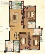 益通・枫情尚城3室2厅2卫122平方米户型图