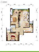 首创光和城2室2厅1卫66平方米户型图