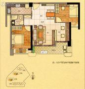 金紫世家3室2厅1卫87平方米户型图