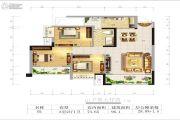 兴发龙溪谷3室2厅1卫96平方米户型图