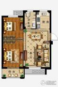 弘业・城市花园2室2厅1卫78平方米户型图