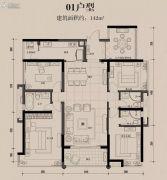 龙溪新城5室2厅3卫142平方米户型图