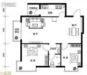 鸥洲2室2厅1卫88--89平方米户型图