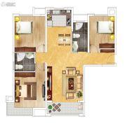 富田九鼎世家3室2厅2卫131平方米户型图