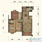东方名城3室2厅2卫142平方米户型图