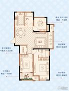 绿洲白马公馆3室2厅2卫115平方米户型图