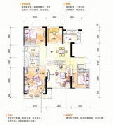 中海国际社区4室2厅2卫125平方米户型图