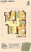荣盛・锦绣外滩3室2厅2卫117平方米户型图