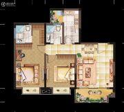 亲亲里2室1厅2卫91平方米户型图