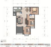 医大广场3室2厅2卫96平方米户型图