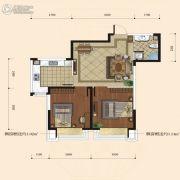 融城7英里2室2厅1卫65平方米户型图