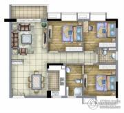 汇丽国际3室2厅2卫0平方米户型图