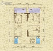 东方之珠花园2室2厅1卫65平方米户型图
