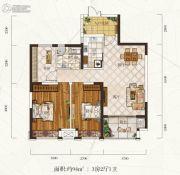 惠天然梅岭国际3室2厅2卫94平方米户型图