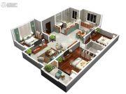 同美生活区3室2厅2卫0平方米户型图
