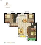 保利・心语花园3室2厅2卫116平方米户型图
