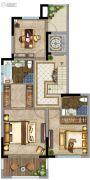 鲁能地产-吴蠡雅苑3室2厅3卫161平方米户型图