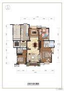 五矿・名品4室2厅2卫0平方米户型图