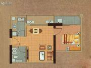鹿先生的洋房1室1厅1卫0平方米户型图