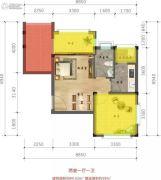 林海溪谷2室1厅1卫0平方米户型图