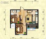 坤博幸福城2室2厅1卫69平方米户型图