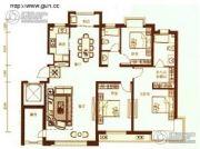 锦绣澜湾3室2厅2卫160平方米户型图