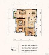 财信沙滨城市3室2厅1卫80平方米户型图