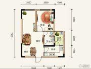 中铁逸都国际1室2厅1卫0平方米户型图