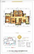 美宇白马湖水街3室2厅2卫119平方米户型图