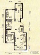 世纪雅苑2室2厅1卫0平方米户型图