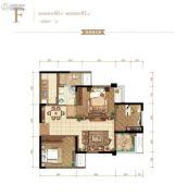 金辉御江府3室2厅1卫0平方米户型图