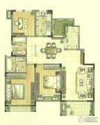 九洲花园缇香郡3室2厅2卫118--124平方米户型图