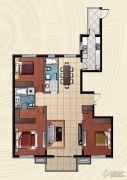 哈西万达广场3室2厅2卫153平方米户型图