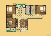 壹号公园3室2厅1卫117平方米户型图