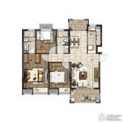 电建�吃酶�3室2厅2卫105平方米户型图