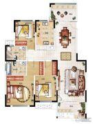 民安北郡3室2厅1卫139平方米户型图