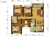 隆鑫十里画卷4室2厅2卫123平方米户型图