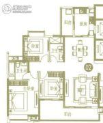 广州亚运城4室3厅3卫150平方米户型图