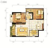东方希望天祥广场天荟2室2厅1卫81平方米户型图