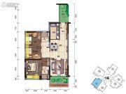 碧桂园・翡翠郡(肇庆大旺)3室2厅2卫100平方米户型图