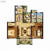 津西新天地3室2厅2卫120平方米户型图