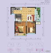 国际康城2室1厅1卫50平方米户型图