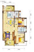 新鸿基悦城2室2厅1卫96平方米户型图