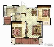 华仁凤凰城2室2厅2卫101平方米户型图