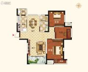 郑西鑫苑名家3室2厅1卫0平方米户型图