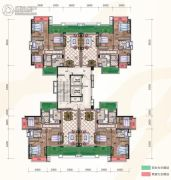 惠阳雅居乐花园3室2厅2卫124--125平方米户型图